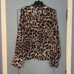 Boston Proper Cheetah top
